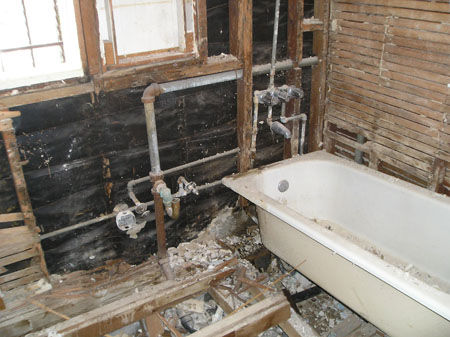 Tommys Boring Blog - Bathroom remodel process